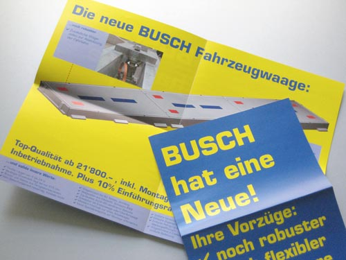 BUSCH Mailing mit Faxkarte